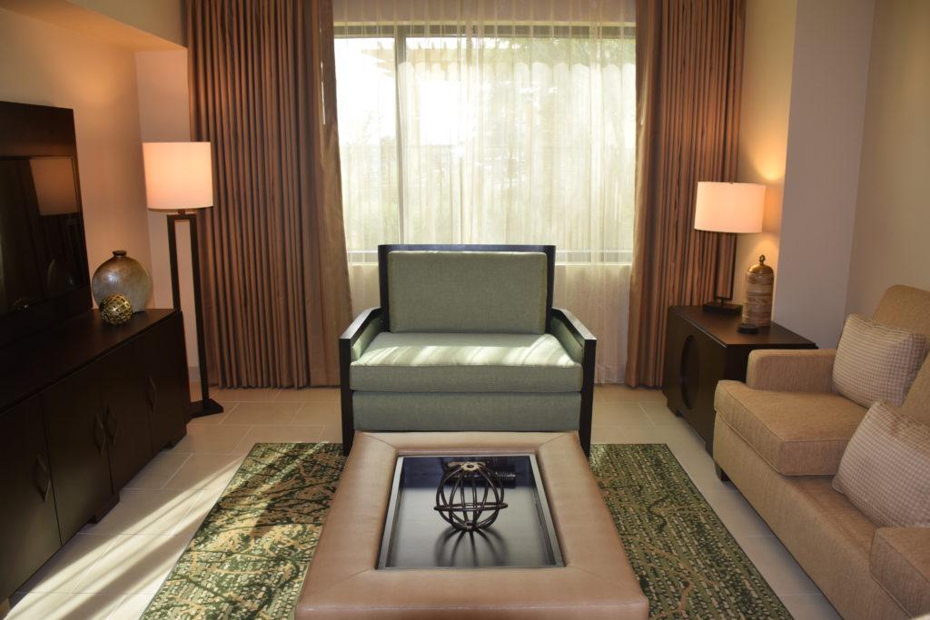 hall with sofa